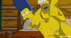 Гомер Симпсон трахает Мардж в ветхом доме