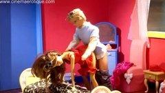 Горяче трио Барби и Кента в кустарном порно мульте